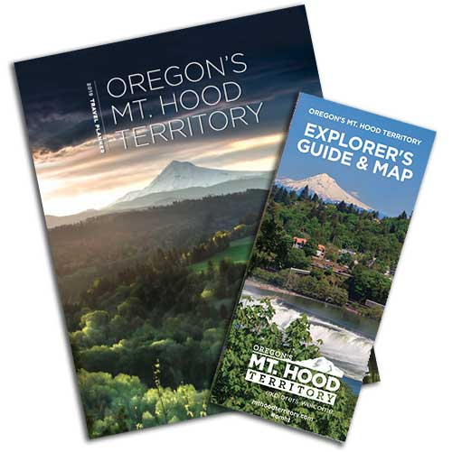 Mt. Hood Territory Travel Planner and Explorers Guide & Map with Mt. Hood visuals