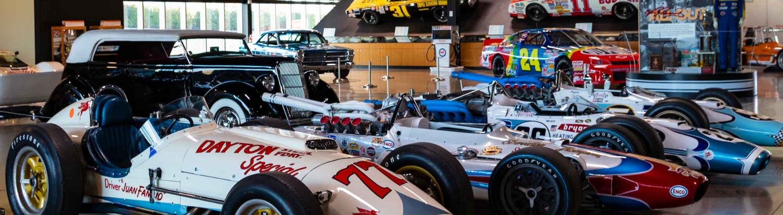 World of Speed Indy Car exhibit