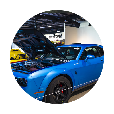 Blue Dodge Challenger Demon