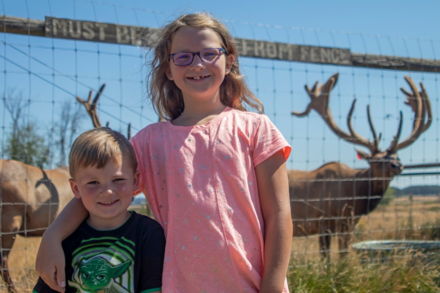 Kids at Rosse Posse Acres elk ranch