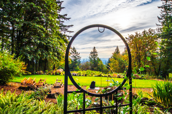 Campbell Lane Winery gardens exterior (listing photo)