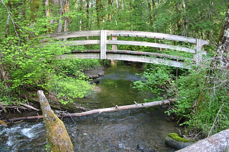 Bridge over the salmon river at Wildwood Recreation Site