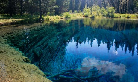 Little Crater Lake in the Mt. Hood National Forest