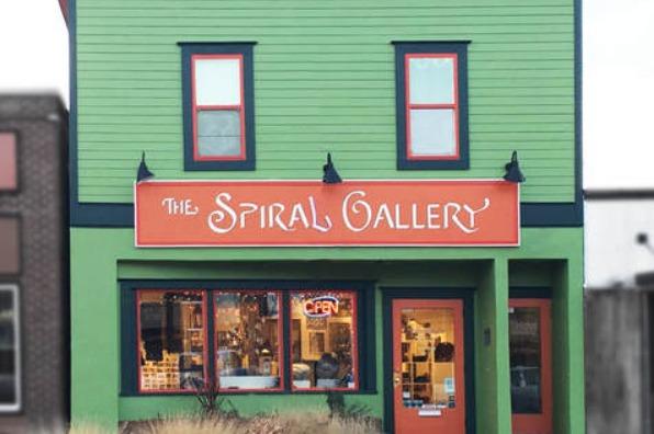 Storefront at the Spiral Gallery artist co-op in Estacada