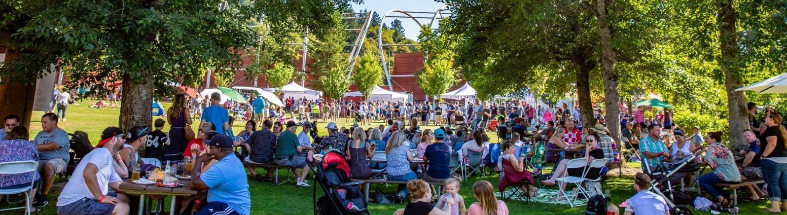 Oregon Trail Brewfest outdoor beer festival