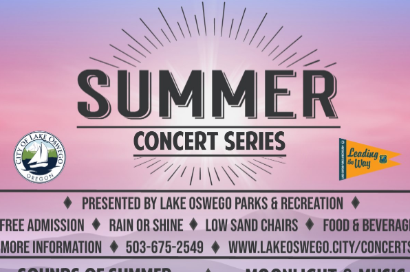 Summer Concert Series Flyer Lake Oswego