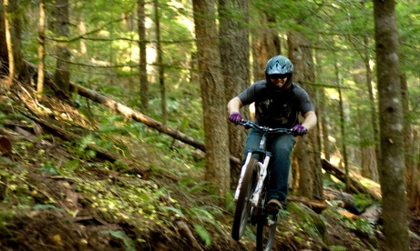 Montain biking Sandy Ridge Trail Mt. Hood