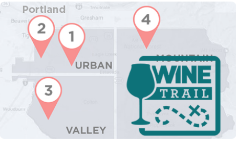 Click here to discover four custom wine trail itineraries.