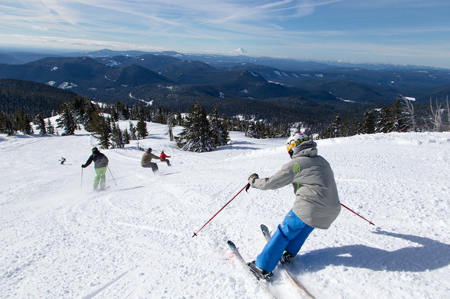 Skiing at Mt. Hood Meadows Resort
