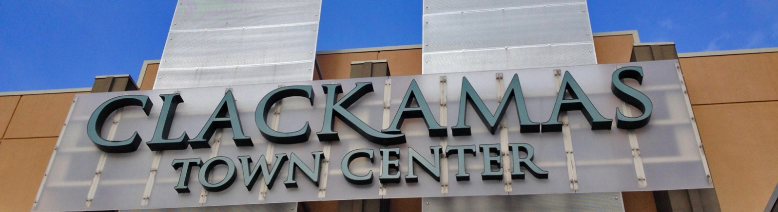 Clackamas Town Center sign tax free shopping Oregon's Mt. Hood Territory