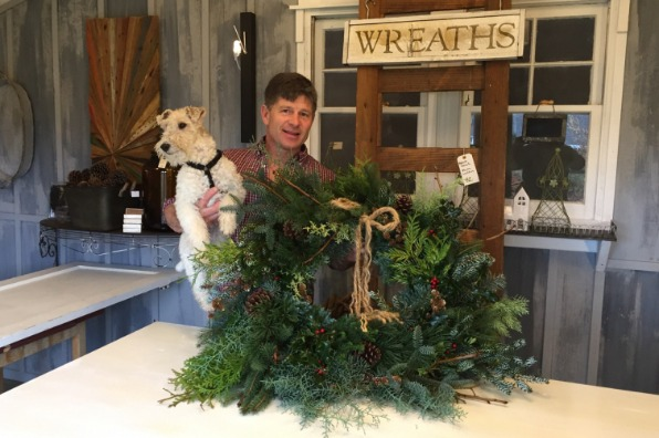 Wreath making workshop at Laurel Hedge Garden