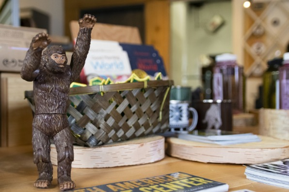 Bigfoot merchandise at North American Bigfoot Center