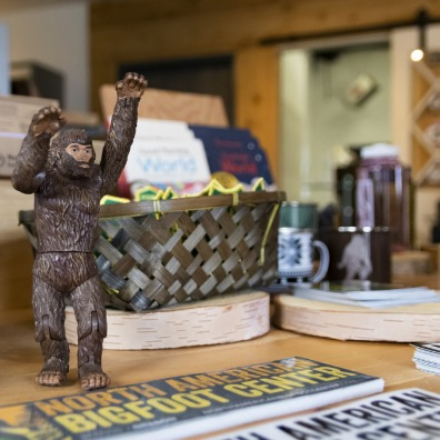 Bigfoot merchandise at North American Bigfoot Center