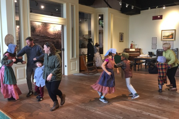 Old fashioned dancing at the End of the Oregon Trail