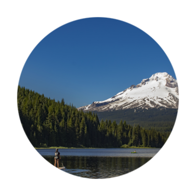 trillium lake paddling mt hood reflection