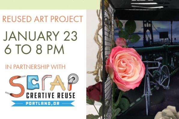 SCRAP PDX presents reused art drink and draw