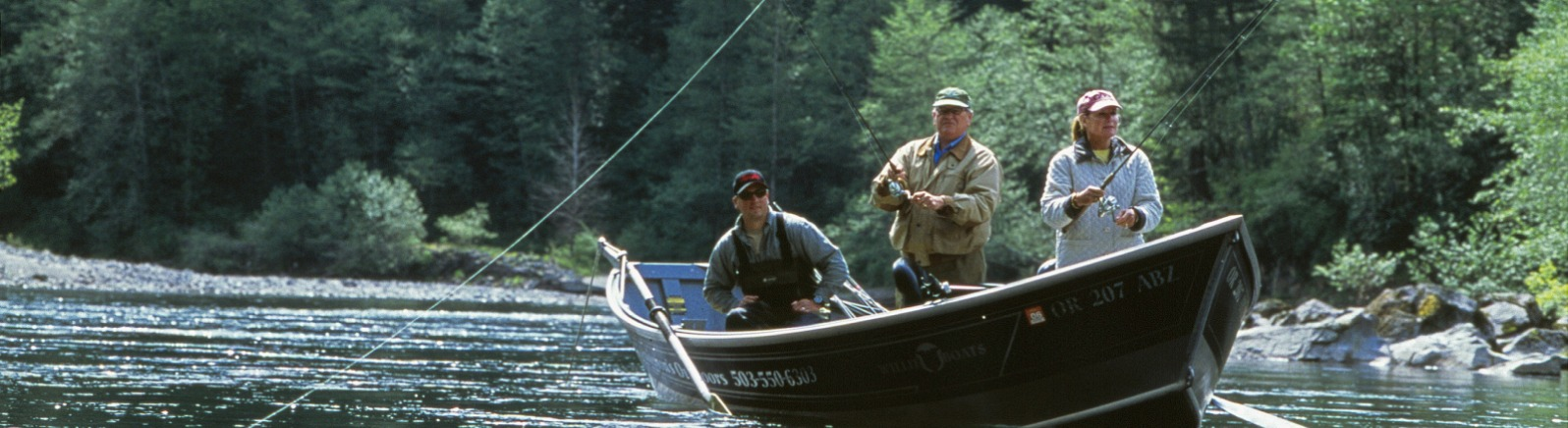 Guided fishing trip in Mt. Hood