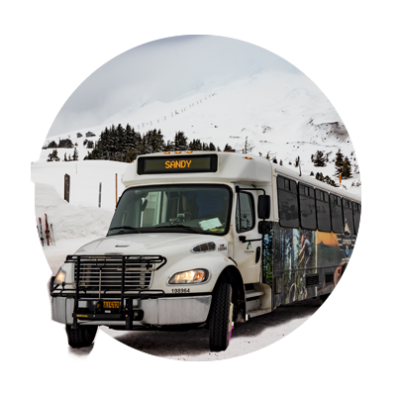 Car free to Mt. Hood idea circle