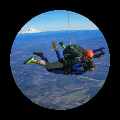Skydiving over Mt. Hood idea circle