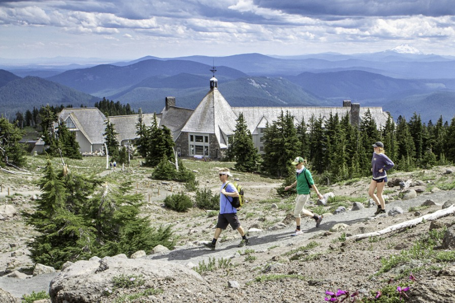 Summertime hiking at Timberline Lodge