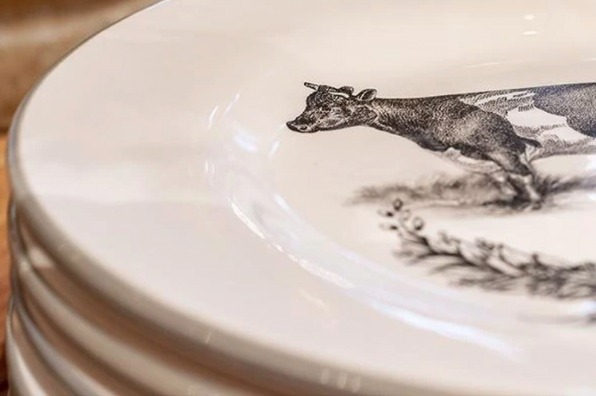 cow plates from Roger and Ives