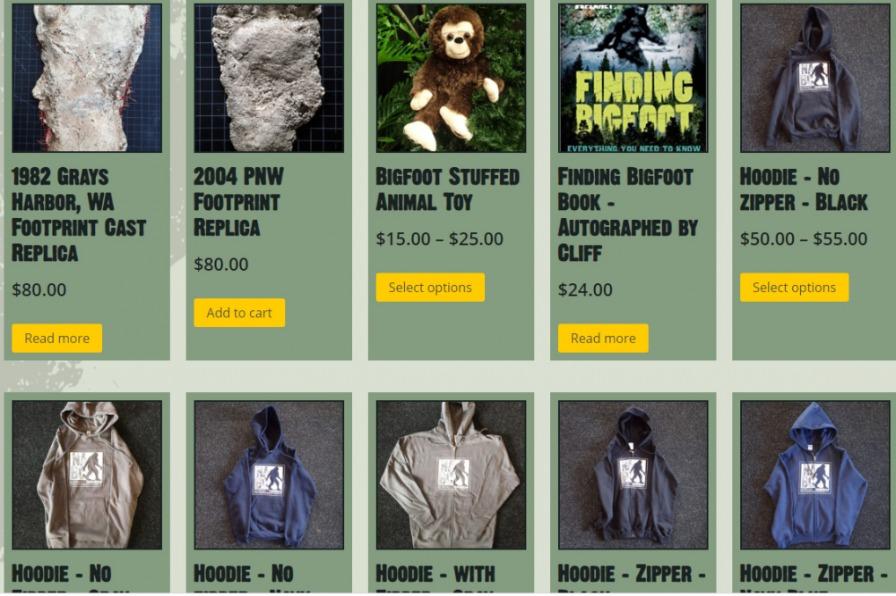 North American Bigfoot Musuem online shop