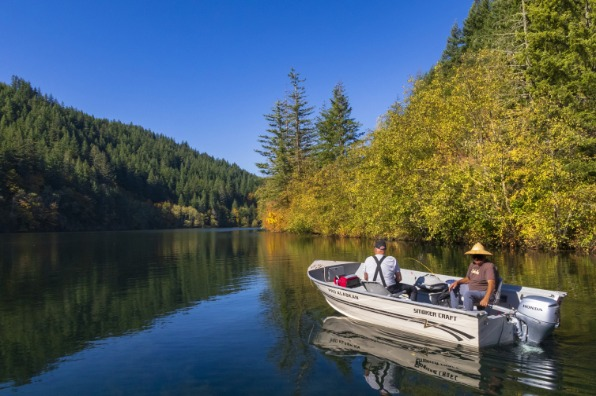 Fishing on North Fork Reservoir at Promontory Point