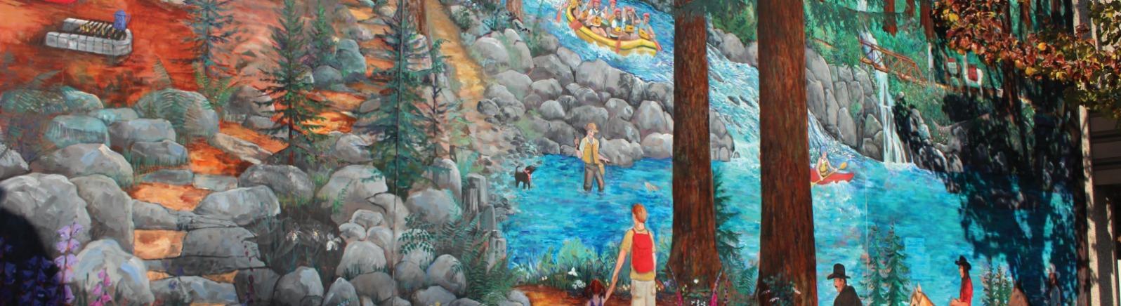 Happy Trails mural, Estacada