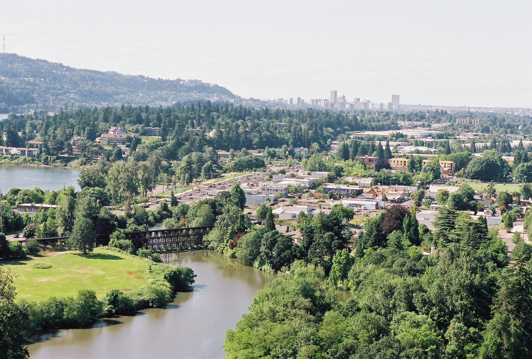 Downtown Milwaukie, Kellogg Lake and Willamette River