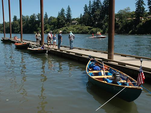Memorial Park boat dock, Willamette River