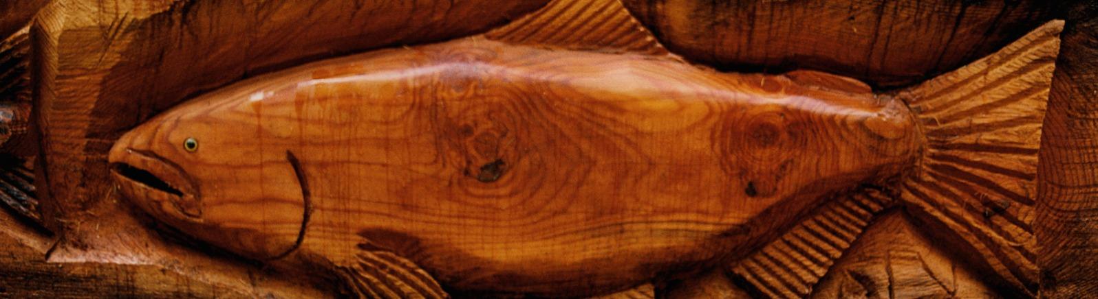 Salmon Woodcarving