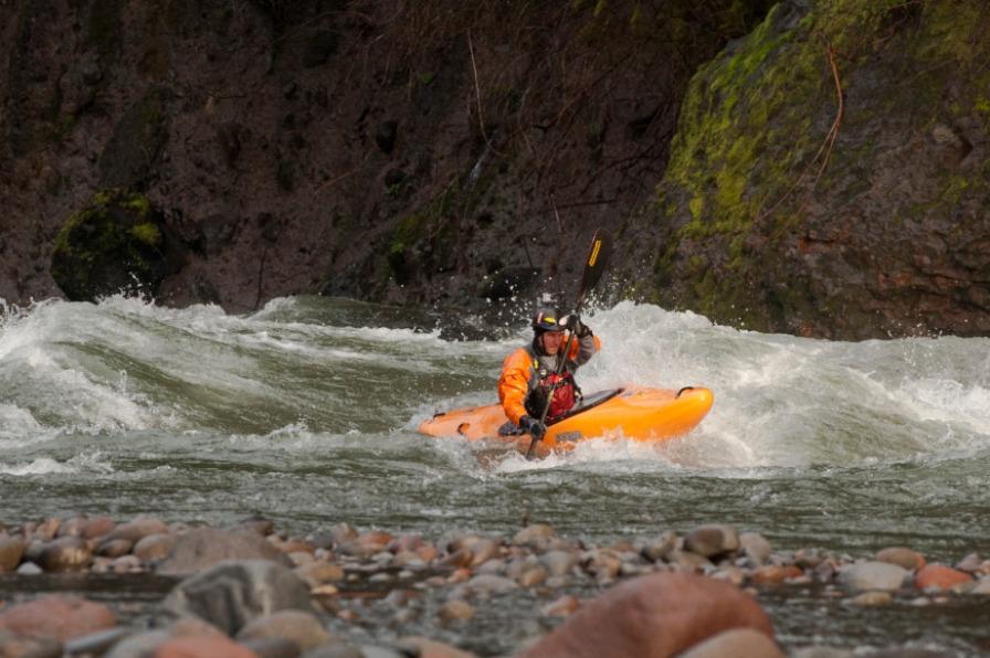 eNRG Kayaking, Sandy River Whitewater Kayaker