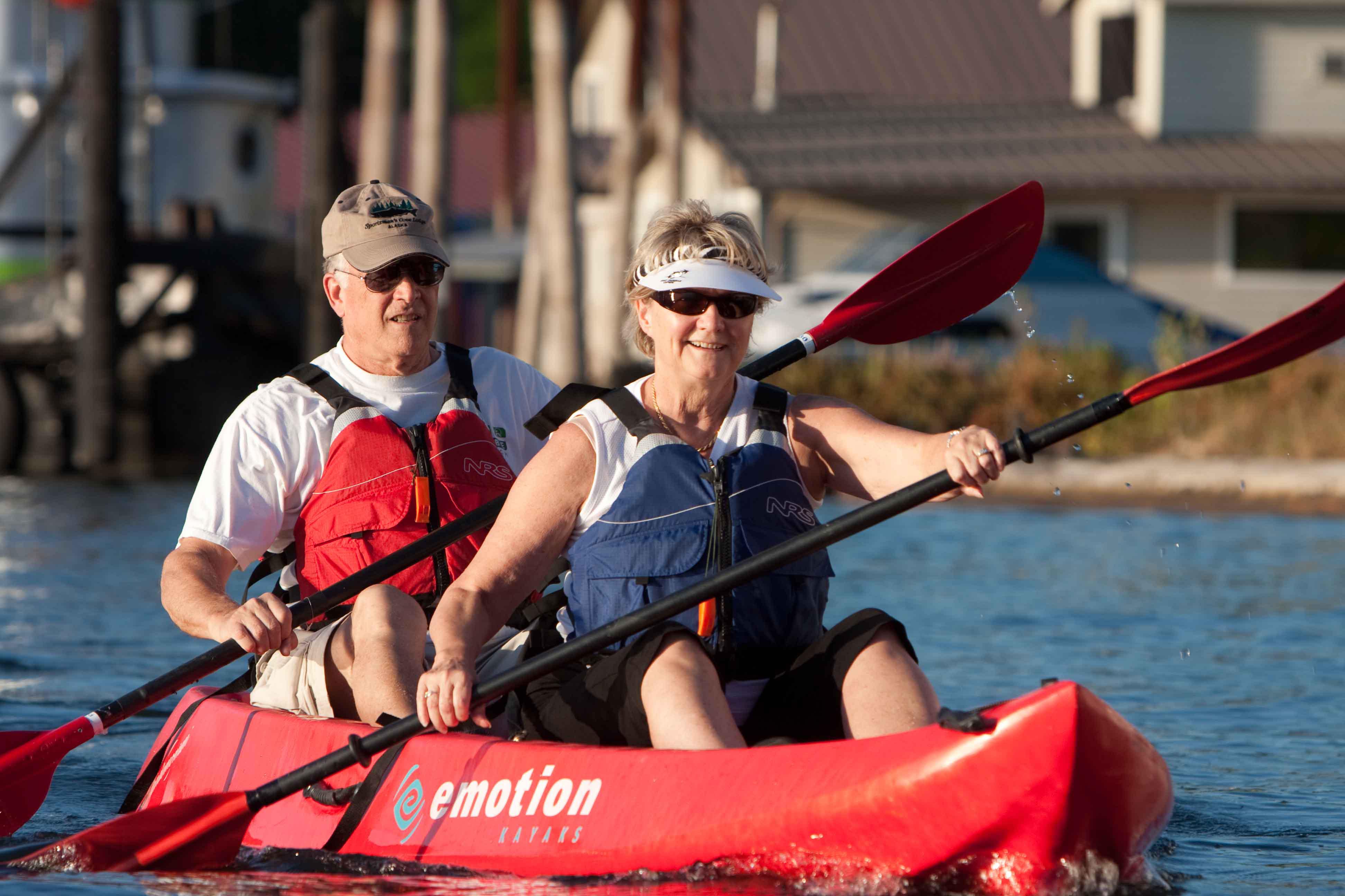 eNRGKayaking, Willamette River, Senior Couple