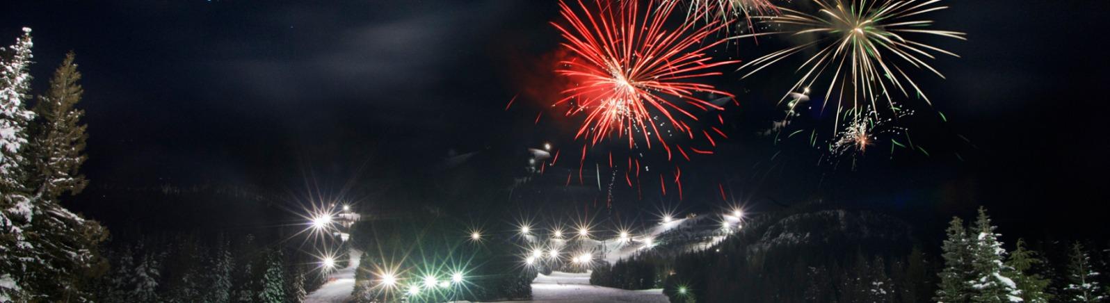 Mt Hood Skibowl, Night Skiing, Fireworks
