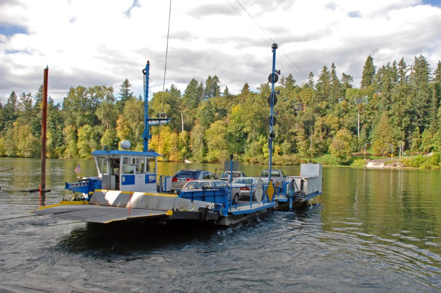 Historic Canby Ferry on Willamette River