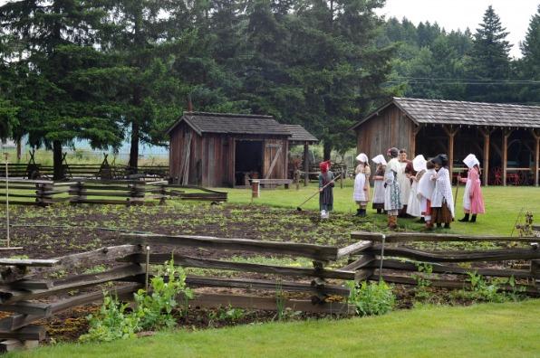 Philip Foster Farm Girls in the Garden