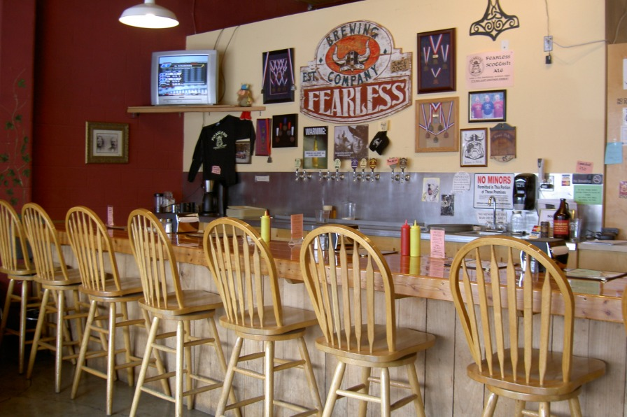 Fearless Brewing Interior Bar and Chairs