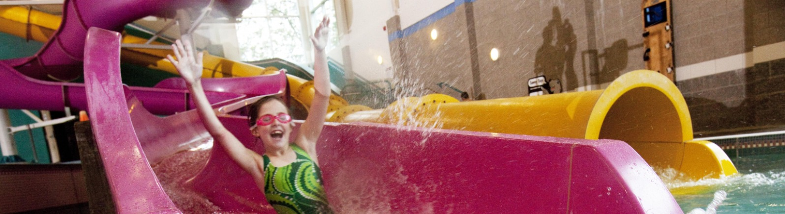 North Clackamas Aquatic Park Girl on Slide