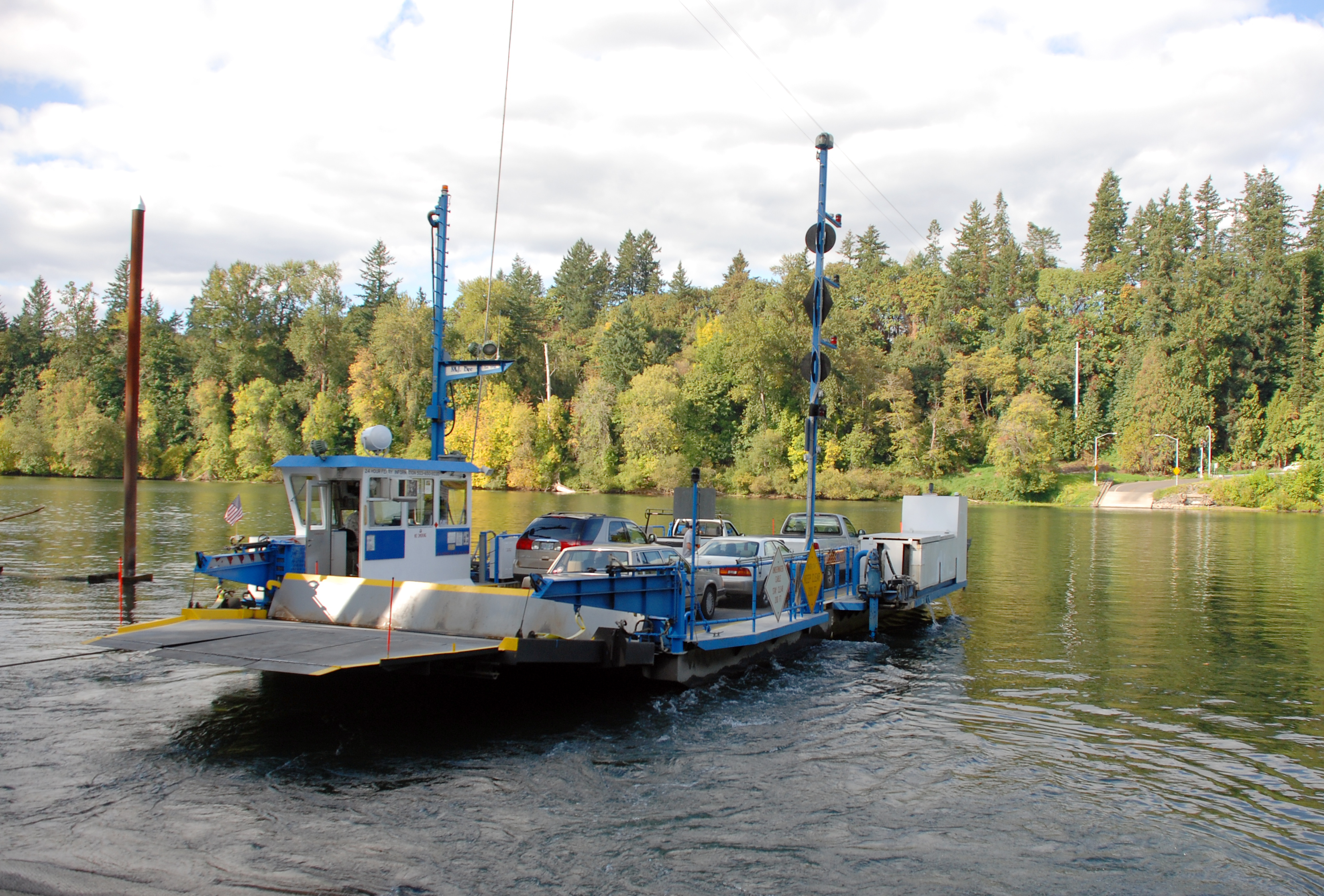Canby Ferry Crossing Willamette River