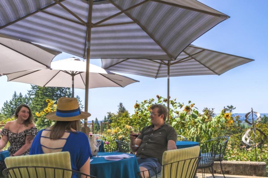 Christopher Bridge Wines Tasting Room Deck
