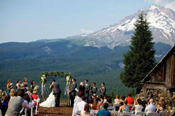 Wedding Ceremony Mt. Hood Skibowl