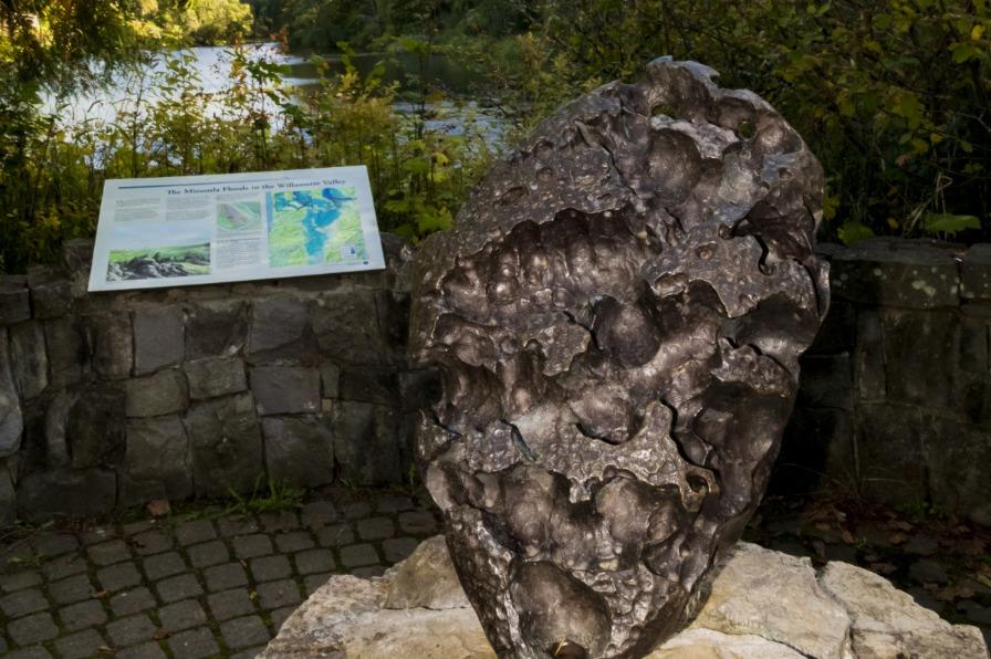 Willamette Meteorite in Fields Bridge Park West Linn