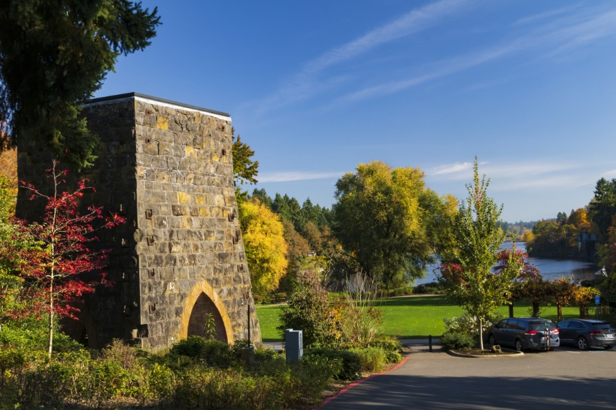 Iron Smelter and George Roger's Park in Lake Oswego