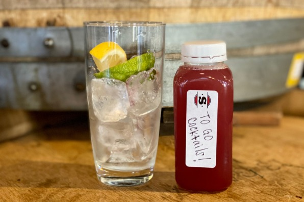Cocktails to go from Stickmen Brewing in Lake Oswego