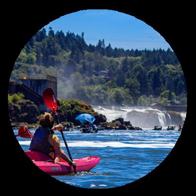 Willamette Falls paddler IC