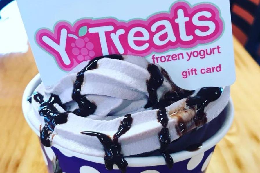 Yo Treats cup of frozen yogurt and gift card in Estacada