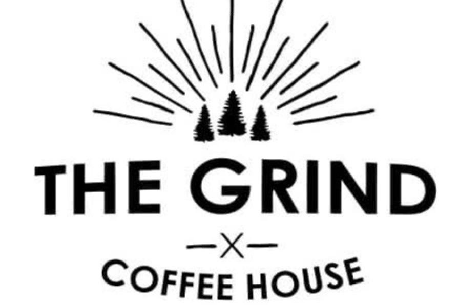 Logo for The Grind Coffeehouse in Estacada