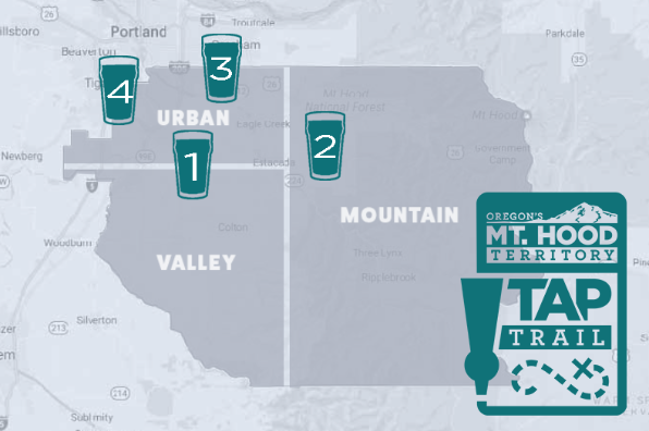 Tap Trail Itineraries - Map Graphic