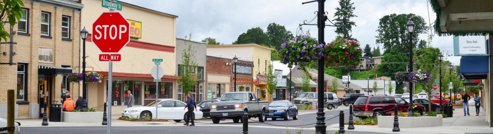 Downtown Estacada - Broadway Street
