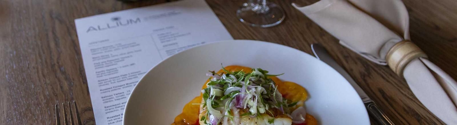 Dinner and menu Allium Bistro downtown West Linn Oregon's Mount Hood Territory